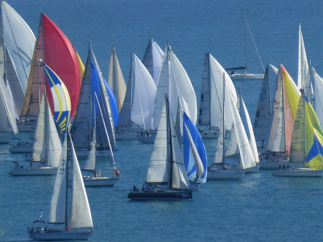 start of the regatta