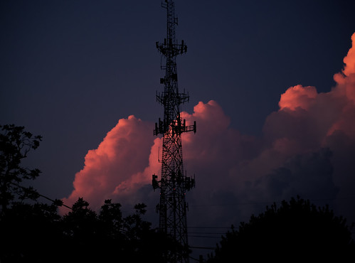 sky storm tower sunset bluehour autumn decatur georgia meteorology nephology vulcanology