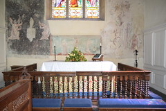 sanctuary with three-sided altar rails