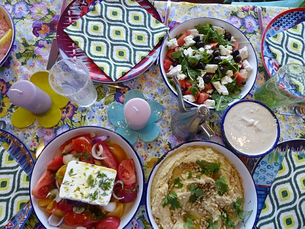 table grecque garnie