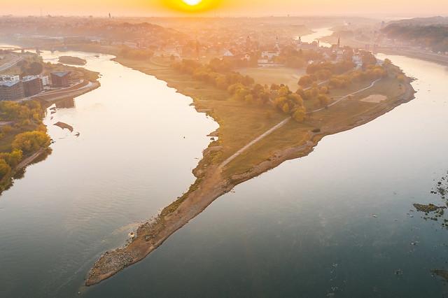 Autumn sunrise | Kaunas aerial #270/365