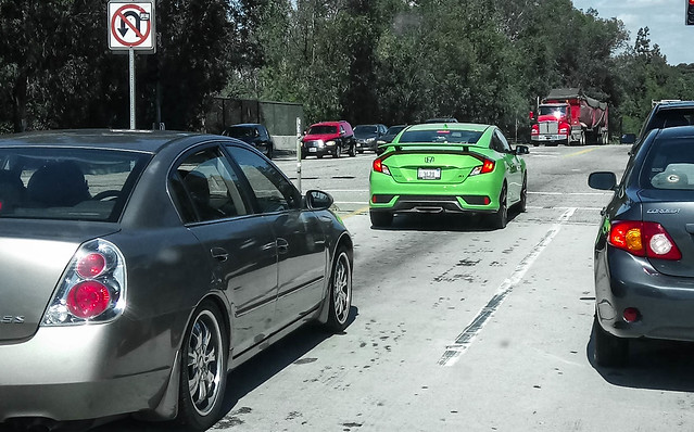 Honda Civic Si with Dealer Plate