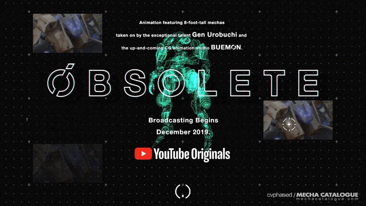 "Gen Urobochi ✕ Buemon: YouTube Originals Anime ""OBSOLETE"""