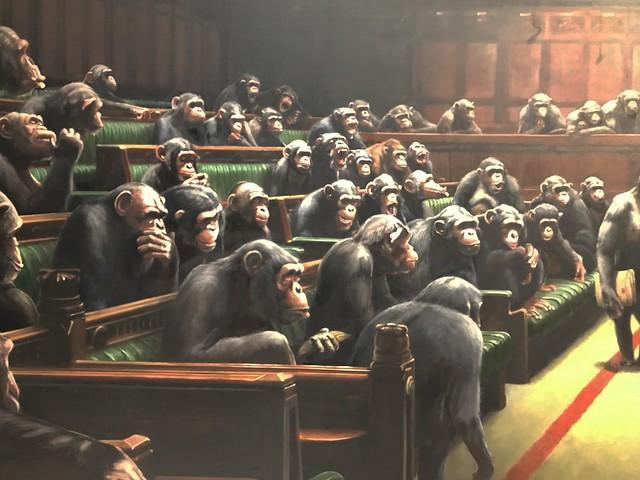 Banksy Devolved Parliament detail (photo 2019)