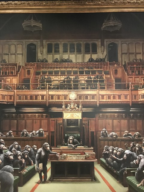 Banksy Devolved Parliament detail (photo 2019)