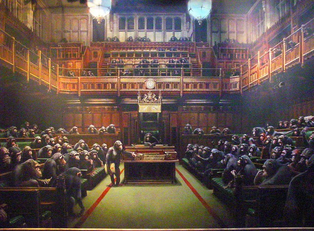 Banksy Question Time (photo 2009)