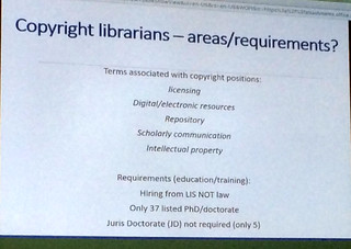 Copyright  librarians - areas/requirements?