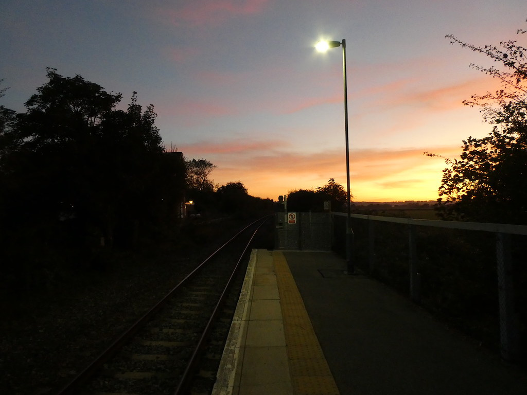 Winchelsea station sunset