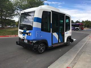 EasyMile Autonomous Vehicle operating at the University of Utah