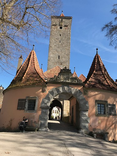 Entrance from Garden back into City. From History Comes Alive in Rothenburg ob der Tauber