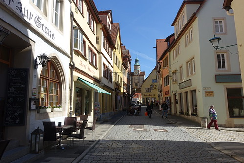 Fine example of a town street. From History Comes Alive in Rothenburg ob der Tauber