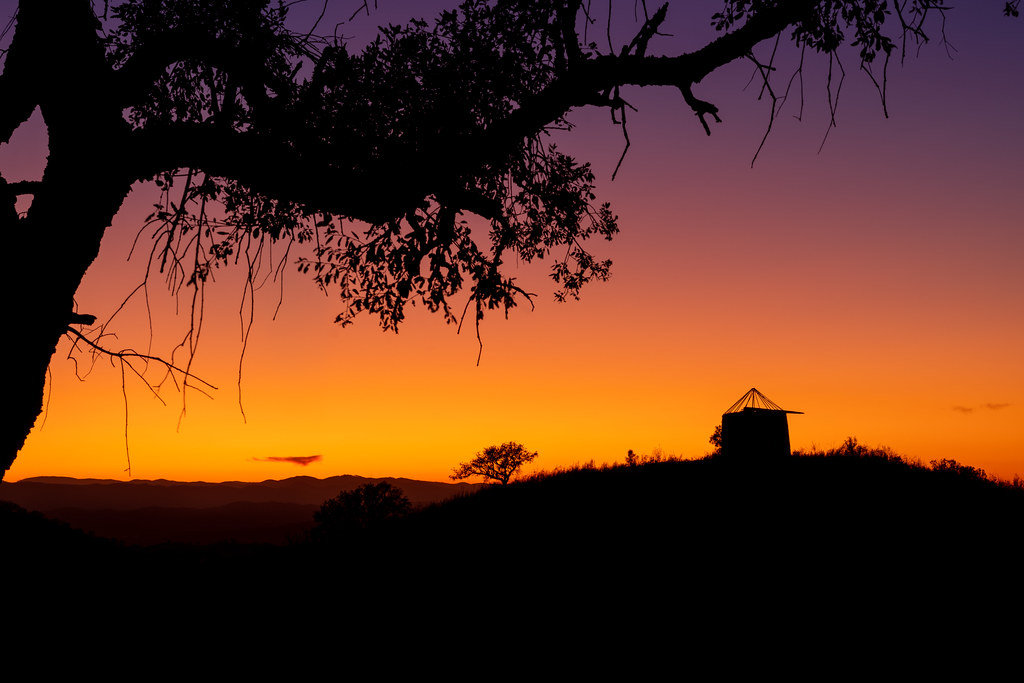 Autumn Sunset In The Algarve Hills