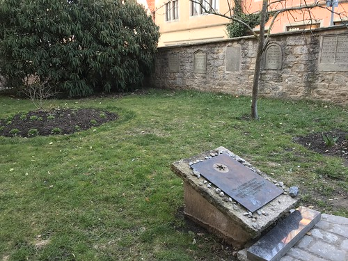 Rabbi Meir Garden with 10 original gravestones from 14th century Jewish community. From History Comes Alive in Rothenburg ob der Tauber