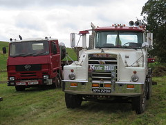 "Unimog1300L posted a photo:	classic english and american cabs,Foden S10 and Mack ""half cab"" lorry low units for Fowler steam ploughing engines. Seen at FFF&B ploughing mmatch, Burford"