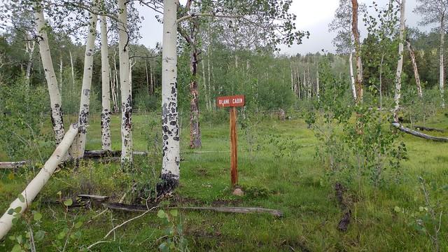 Blank Cabin site, Segment 14, Colorado Trail, CO