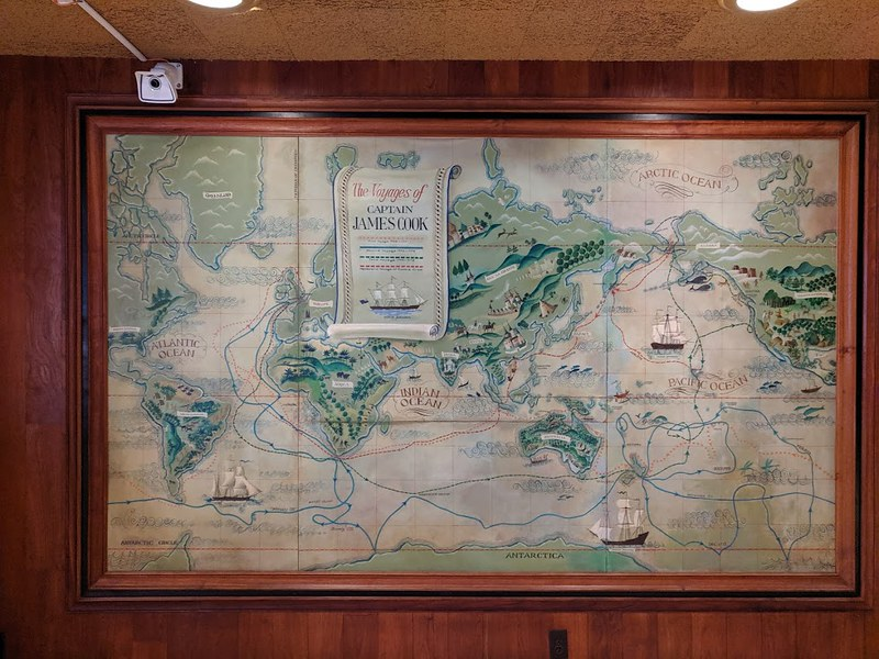 Captain Cook map