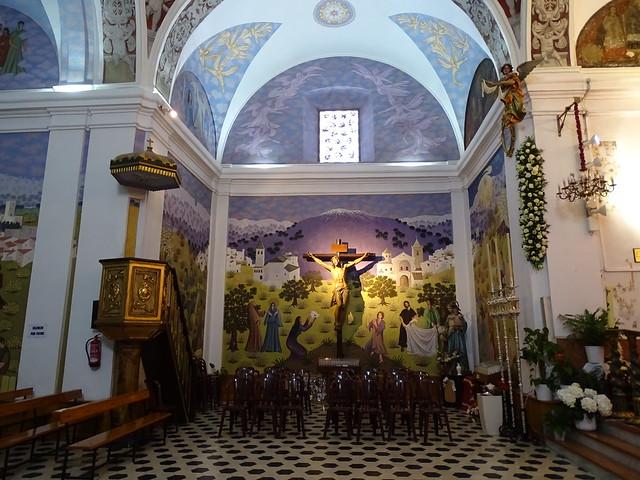 pintura mural interior Ermita iglesia de la Virgen de los Remedios Cerro de San Cristobal Velez Malaga Málaga 01