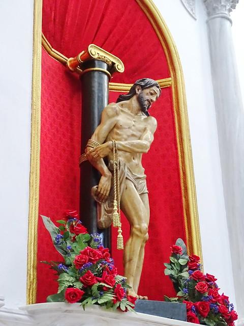 imagen de Pasion de Cristo escultura interior Iglesia de San Juan Bautista Velez Malaga Málaga