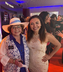 Sandra Santiago at the Emmys Nominee Reception with Patrika Darbo August 25 2019