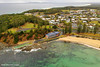 Aerial View over Black Head Ocean Baths & Black Head Surf Club, Hallidays Point, Mid North Coast, NSW