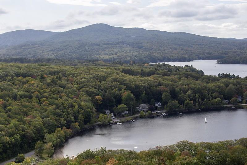 Blick auf den Megunticook See.