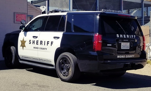 Mono County Sheriff Chevrolet Tahoe left