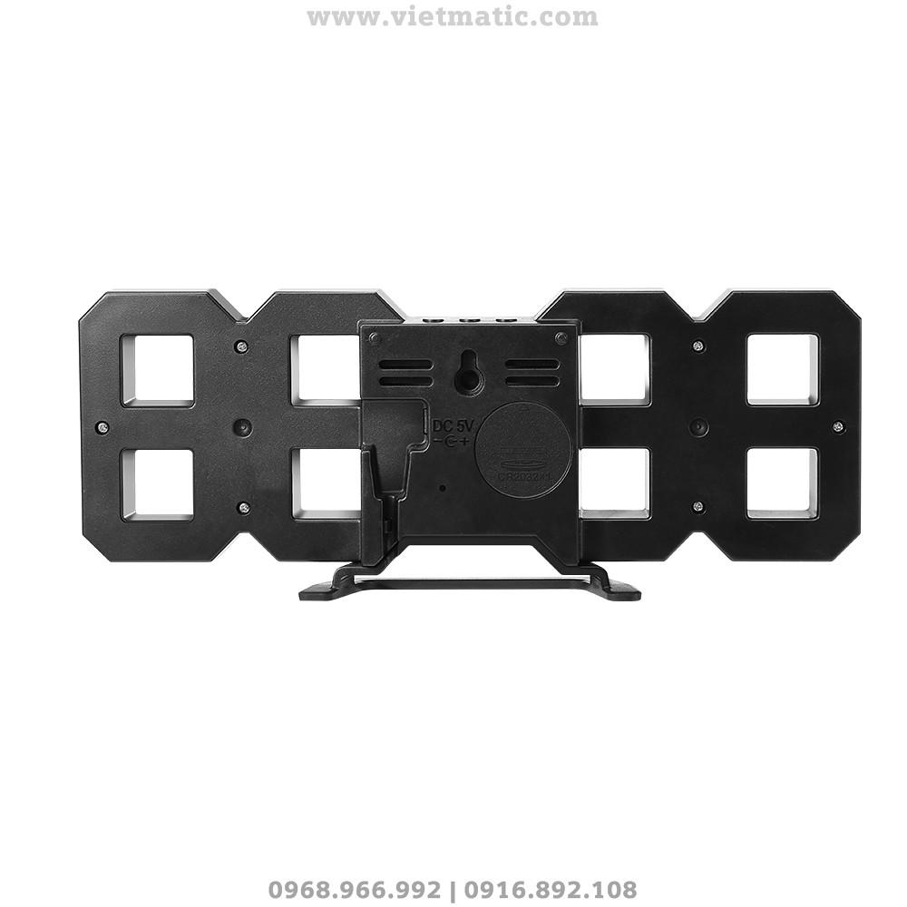 Mặt sau của đồng hồ LED 3D treo tường