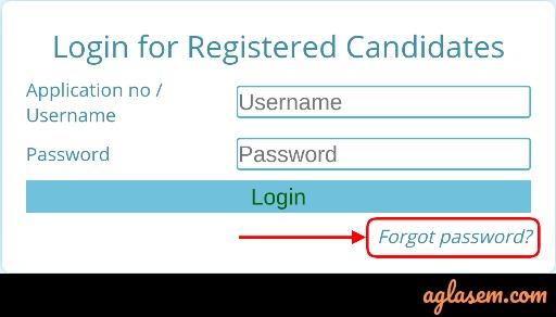 Forget password link