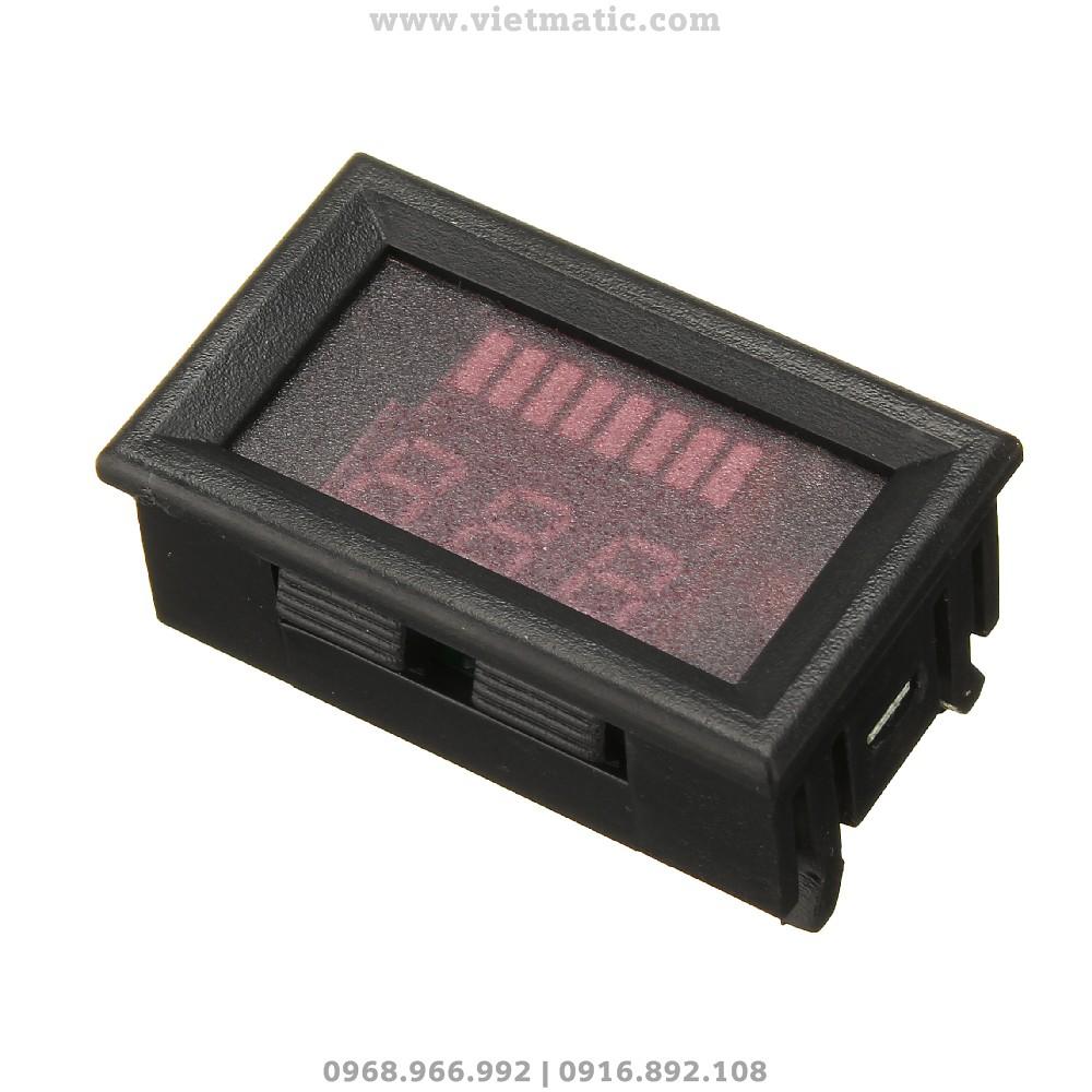 Kích thước thực tế của đồng hồ đo dung lượng bình ắc quy tự động