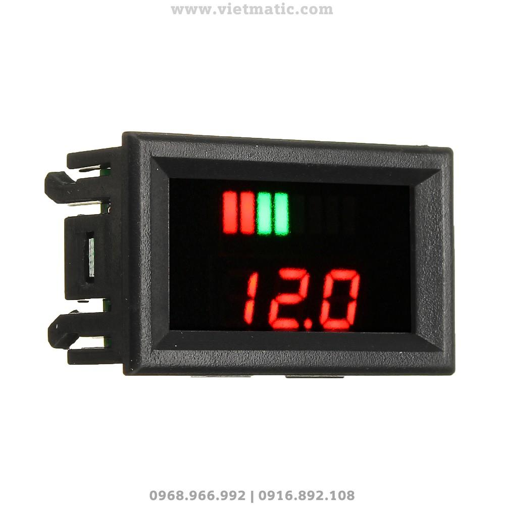 Đồng hồ đo mức dung lượng bình ắc quy tự động - Mặt nghiêng