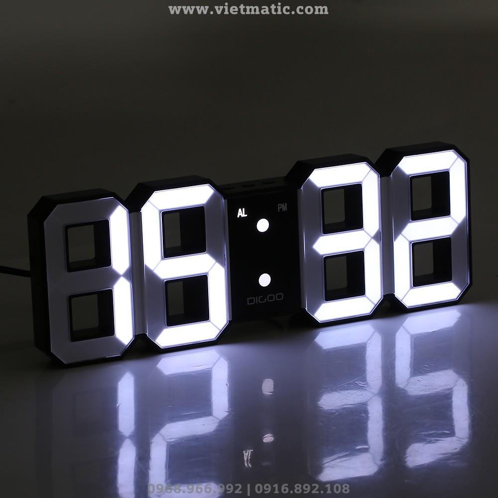 Đồng hồ LED 3D treo tường