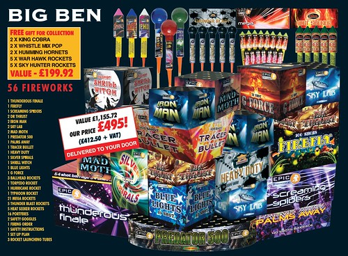 NEW FOR 2019  - Big Ben 1.3G DIY Consumer Fireworks Kit