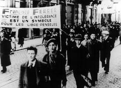 Manifestación protesta en París por el fusilamiento a Ferrer i Guàrdia_1909