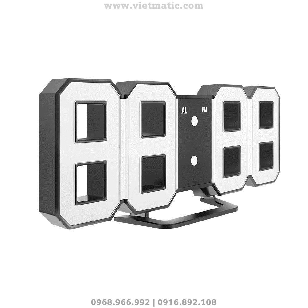 Đồng hồ LED 3D treo tường 03