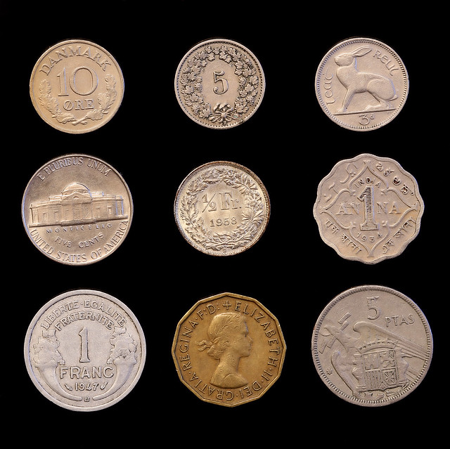 knolling coins