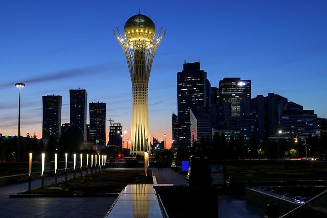 Nur Sultan in the evening (Kazakhstan)