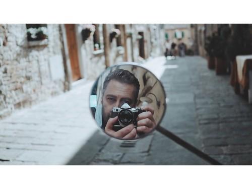 Self portrait in Tuscany
