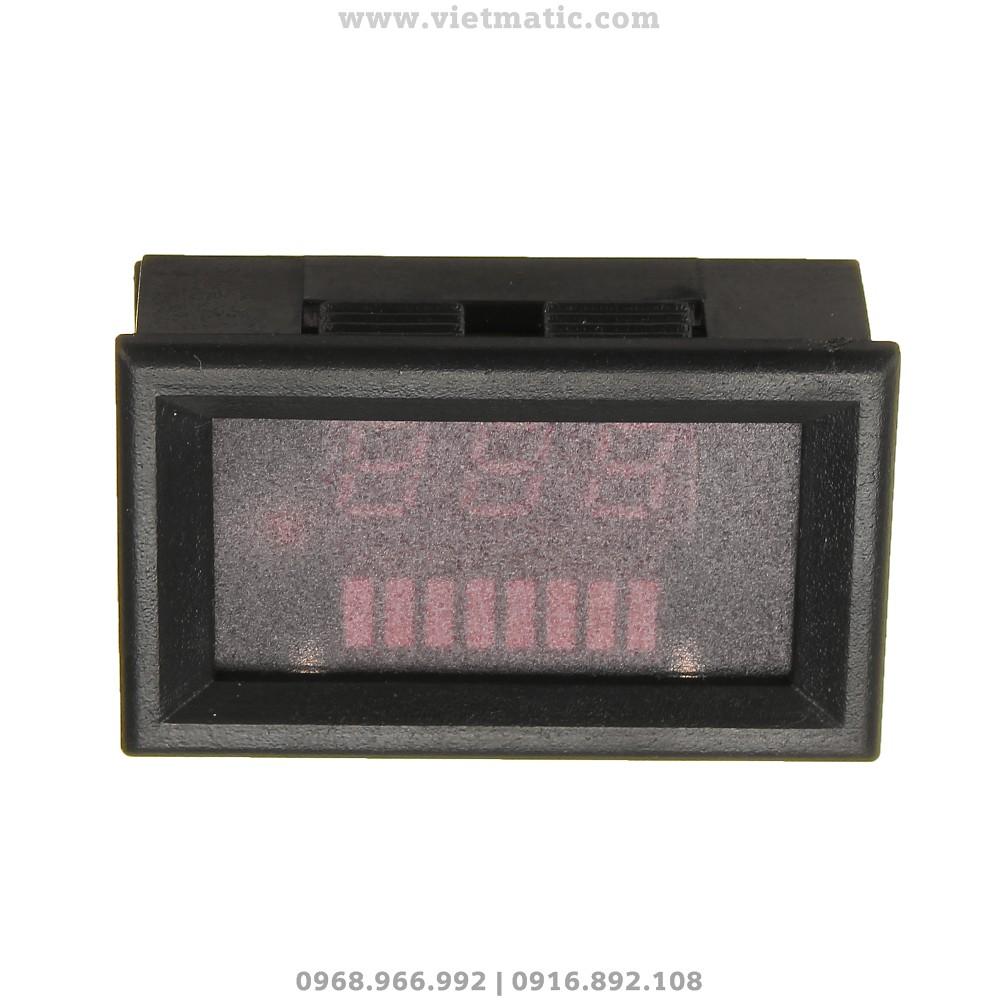 Đồng hồ đo mức dung lượng bình ắc quy tự động - Mặt trên