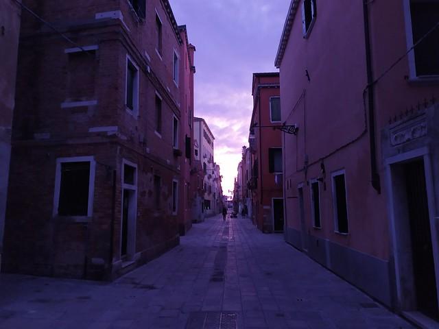 Venezia, prime luci del mattino