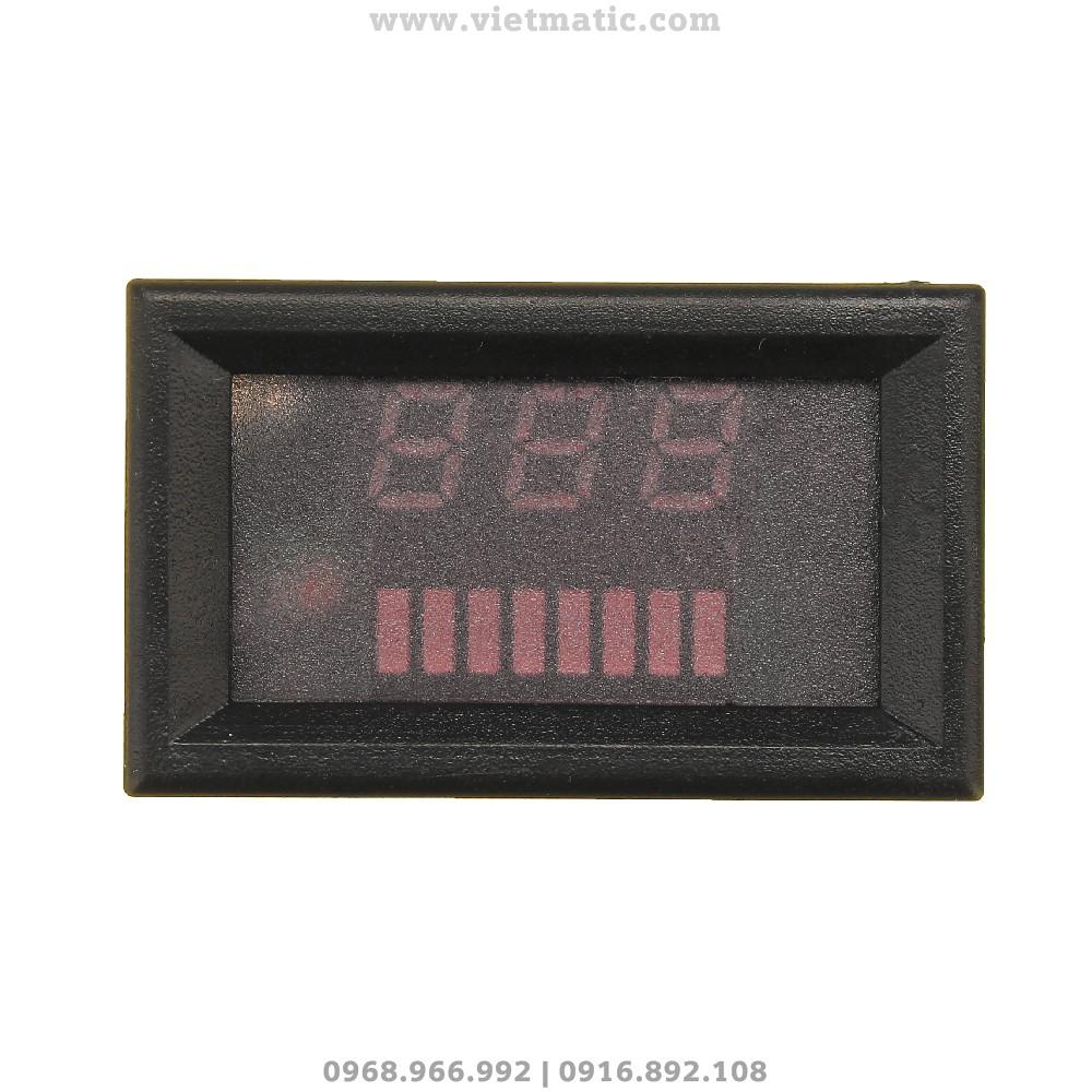 Đồng hồ đo mức dung lượng bình ắc quy tự động - Mặt trước