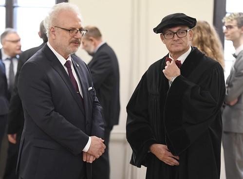 Valsts prezidents Egils Levits piedalās svinīgajā Latvijas Universitātes Senāta sēdē