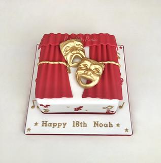 18th Drama birthday cake