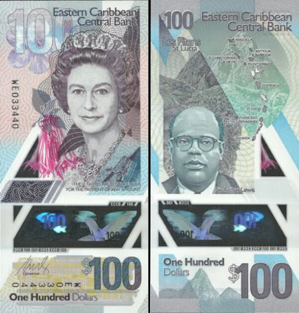 100 Dolárov Východný Karibik 2019