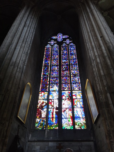Stained glass of Rouen Cathedral