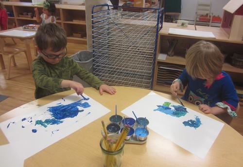 a blue dinosaur & Blue Anno