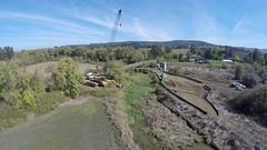 Construction at Wapato Lake NWR