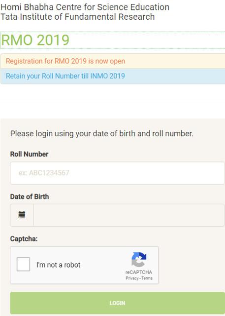 RMO 2019 Registration now open