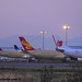 A380 Flightline at dawn.. item of interest being Asiana A350 msn 387