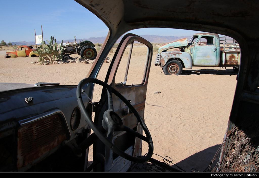 Car wrecks, Solitaire, Namibia