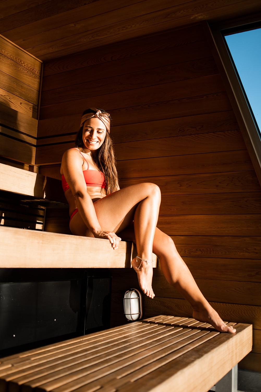 camille dg bikini rouge bota bota sauna